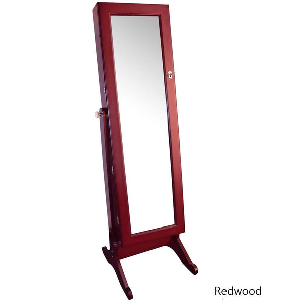 Jewelry Armoire Stand with Mirror | Nile Corp