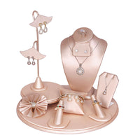 #SET75-S50 Champagne Pink Jewelry Display 9-Piece Set | Nile Corp