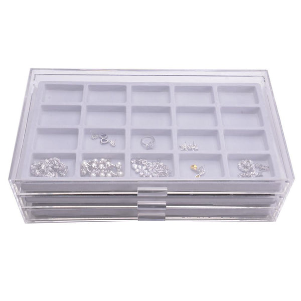 Premium Acrylic 3 Drawer Jewelry Storage Organizer | Nile Corp