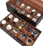 Deluxe Espresso Brown Watch Storage Box with Lock | Nile Corp