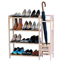 Wooden 2 in 1 Shoe and Umbrella Rack -Nile Corp