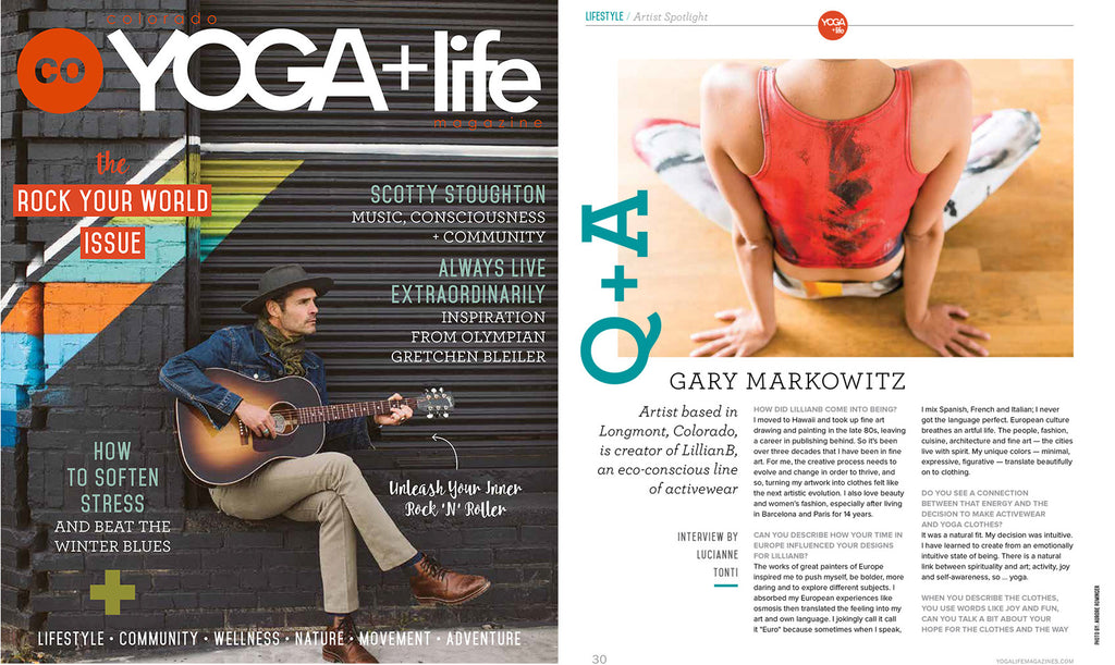 LillianB Fashions Featured in CO Yoga & Life Magazine
