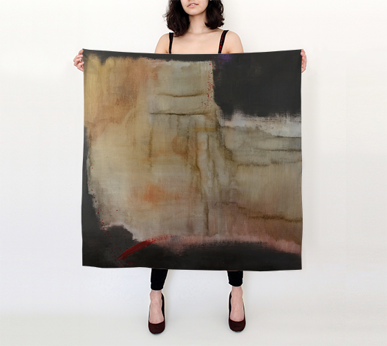 Silk Scarf - Abstract in Back