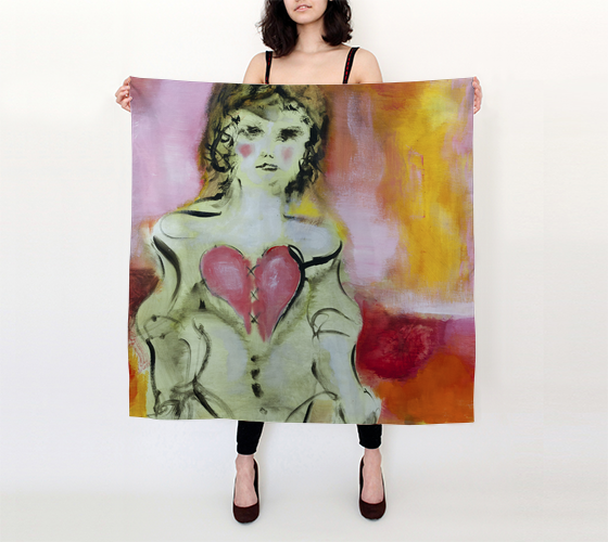Silk Scarf - Sweetheart