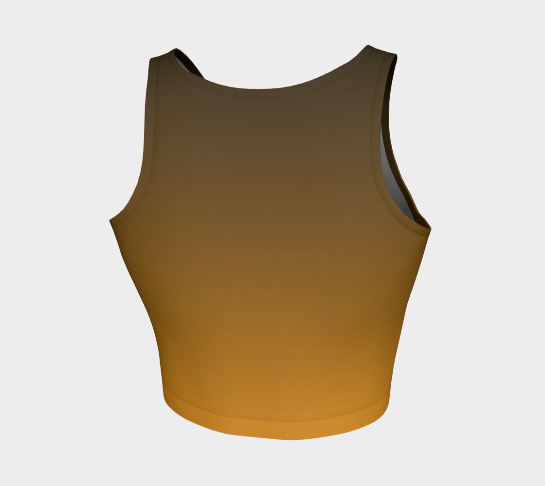 Athletic Crop Top - Artist Color - Ochre/Olive