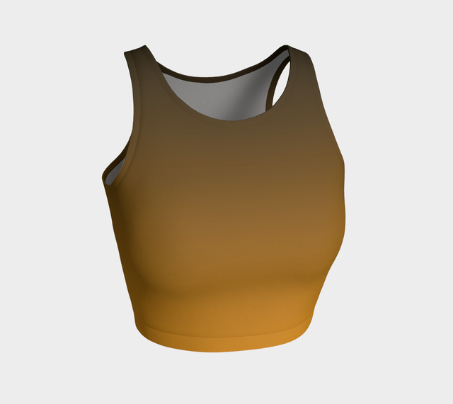 Ochre/Olive Crop Top