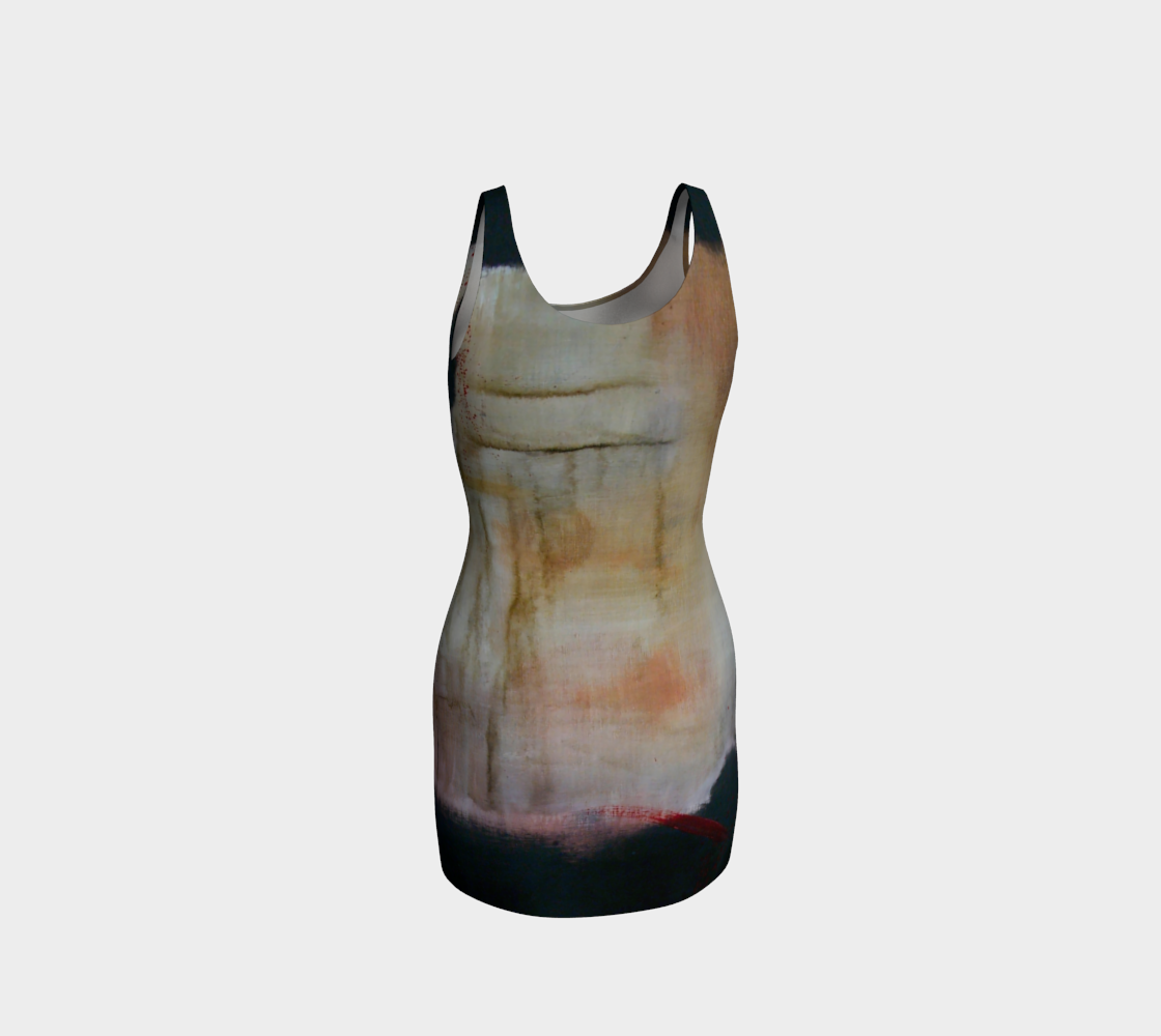 Fitted Bodycon Dress - Earth Tones