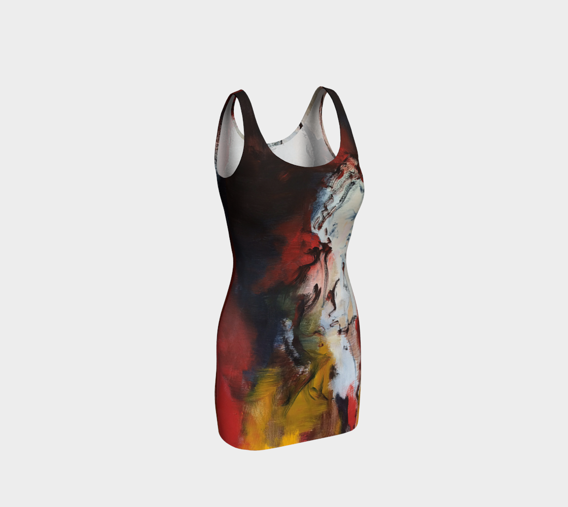 Fitted Bodycon Dress - Figurine