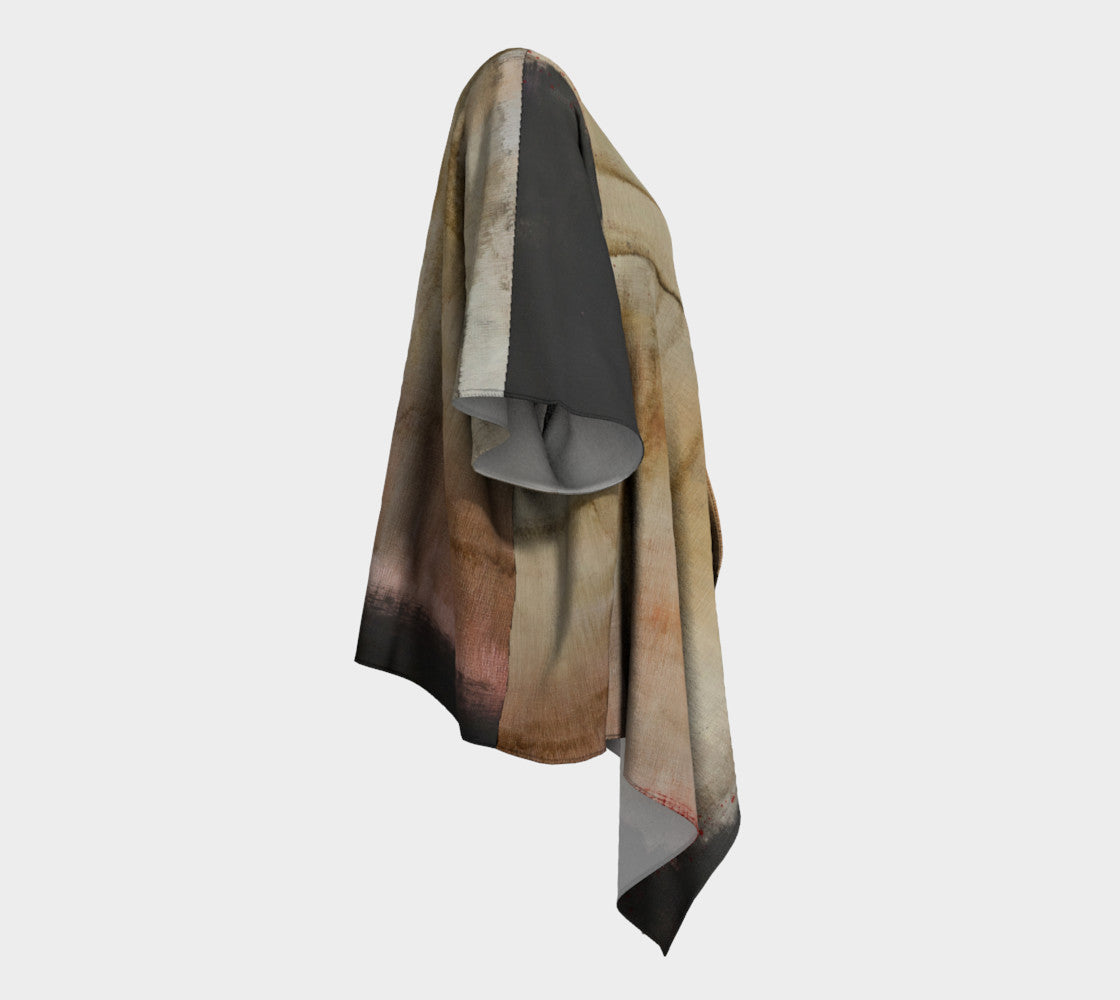 Draped Kimono - Abstract in Black