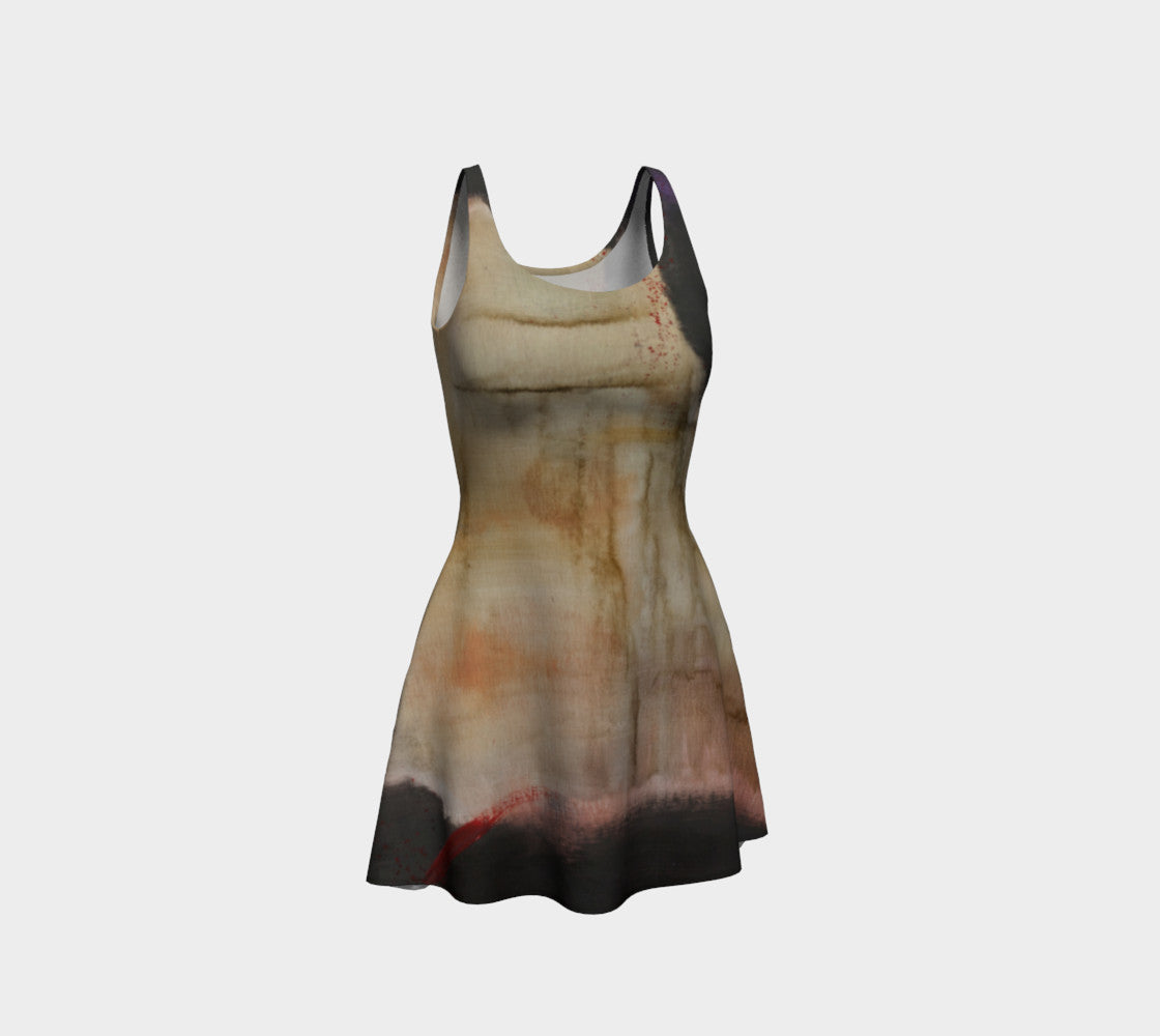 Earth Tones Flare Skater Dress