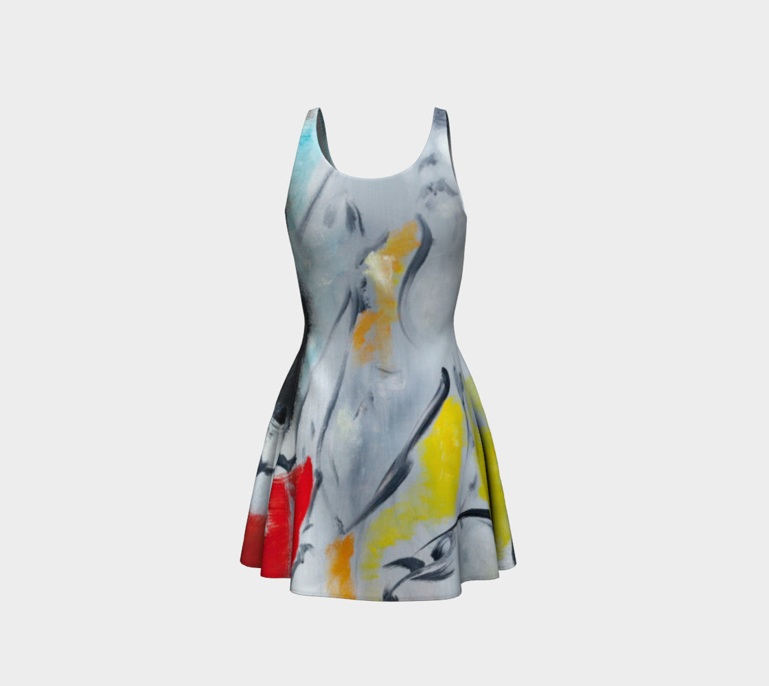 Flair Skater Dress - Color Splash