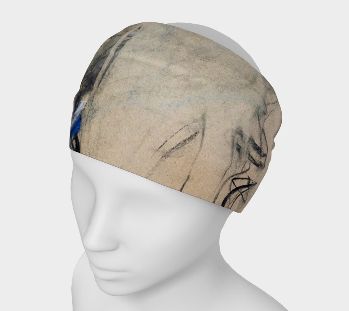 Head Band - Abstract in Blue