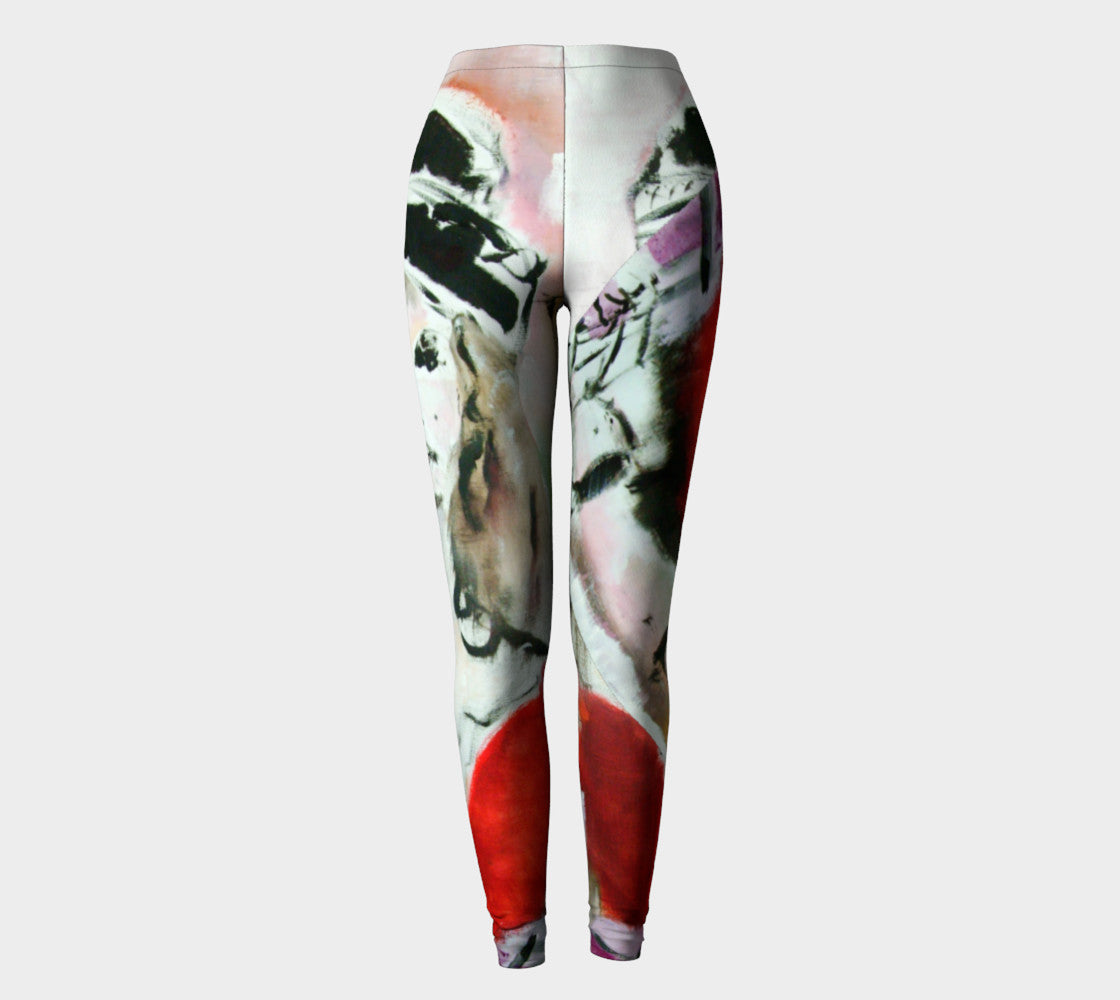 Art Walk Yoga Leggings - Happy in Paris