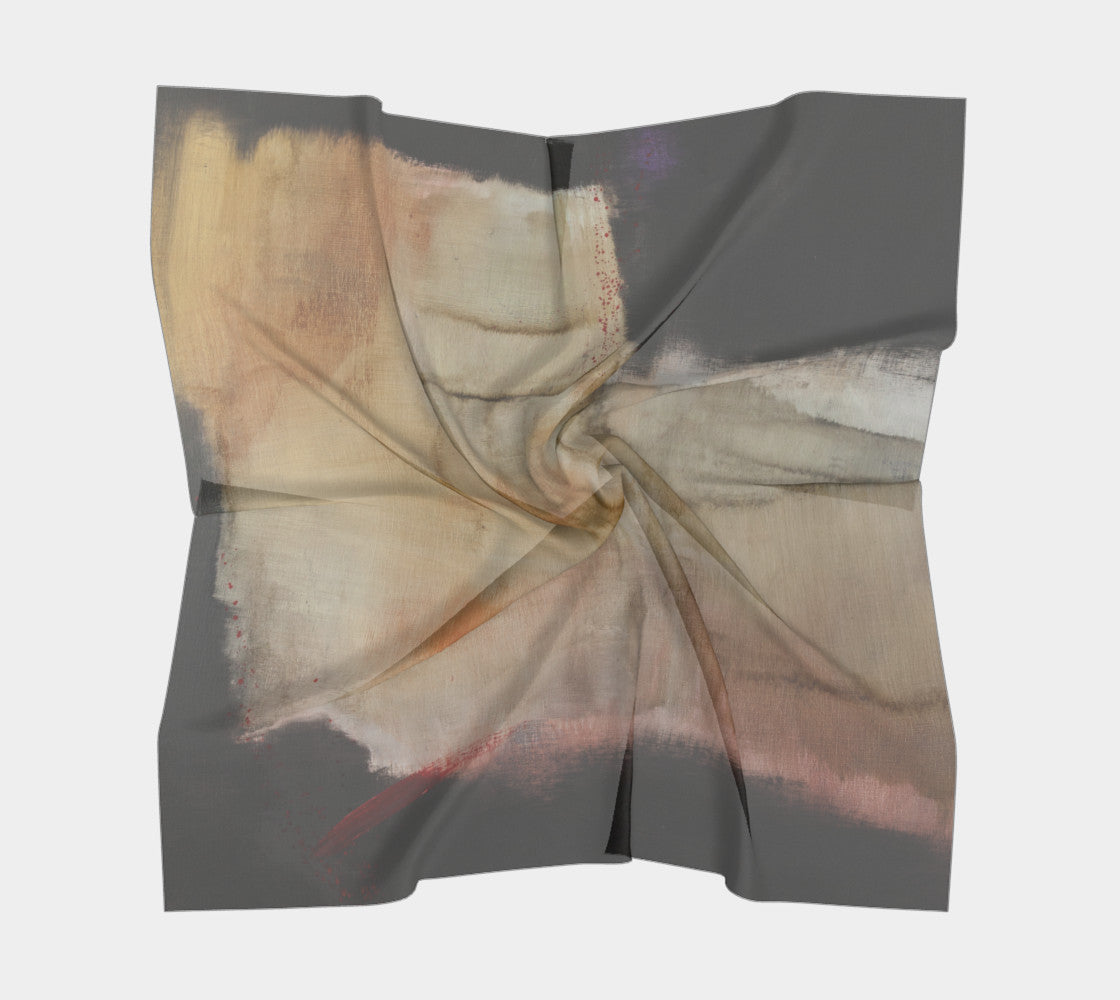 Silk Scarf - Abstract in Back*