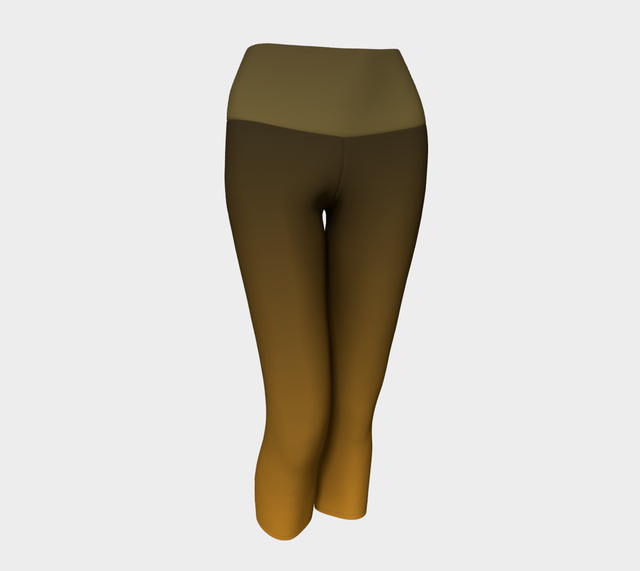 Ocre and Gold Yoga Capris