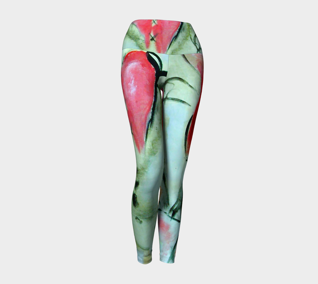 Art Walk Yoga Leggings - Hearts