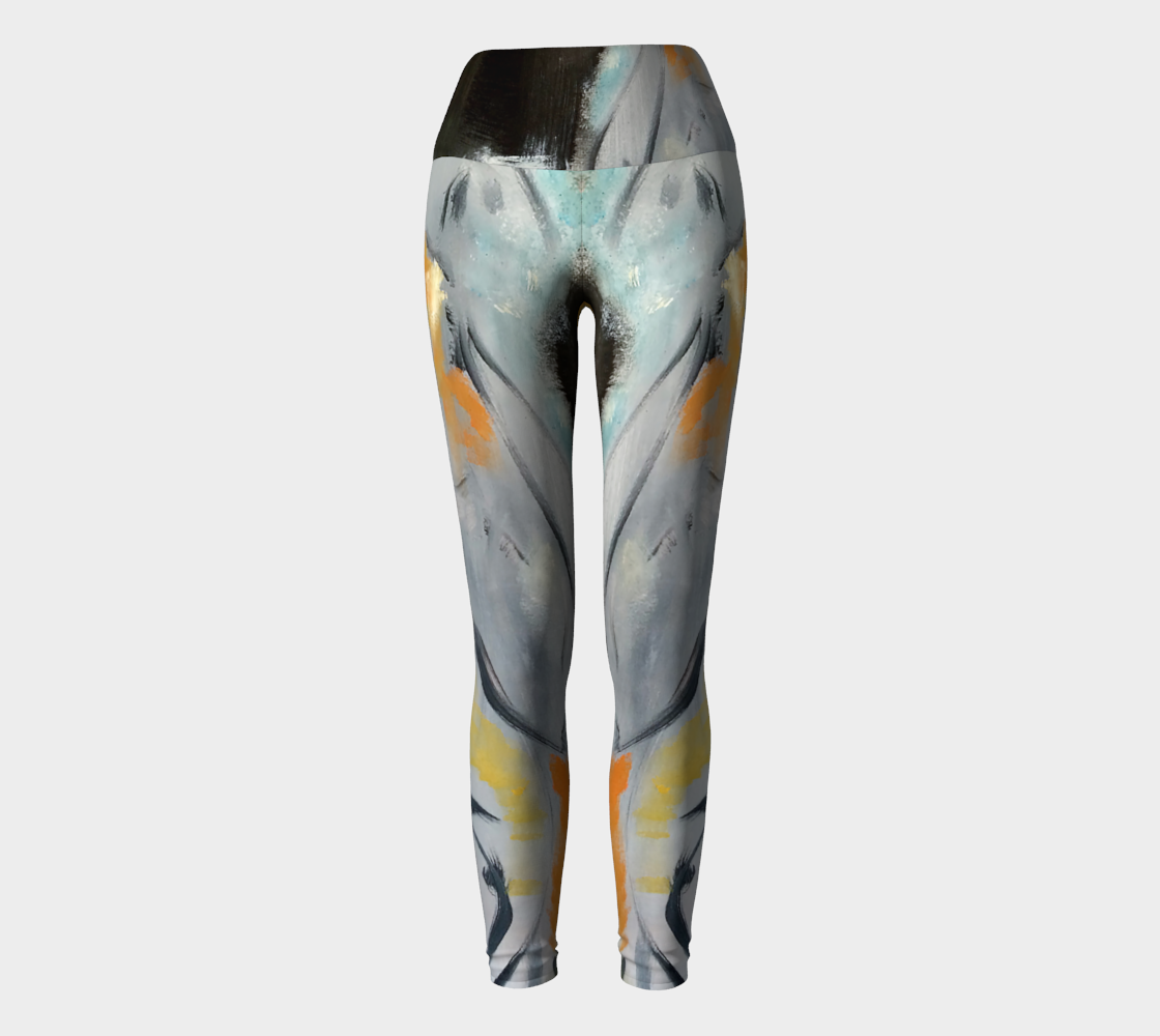 Art Walk Yoga Leggings - Color Splash