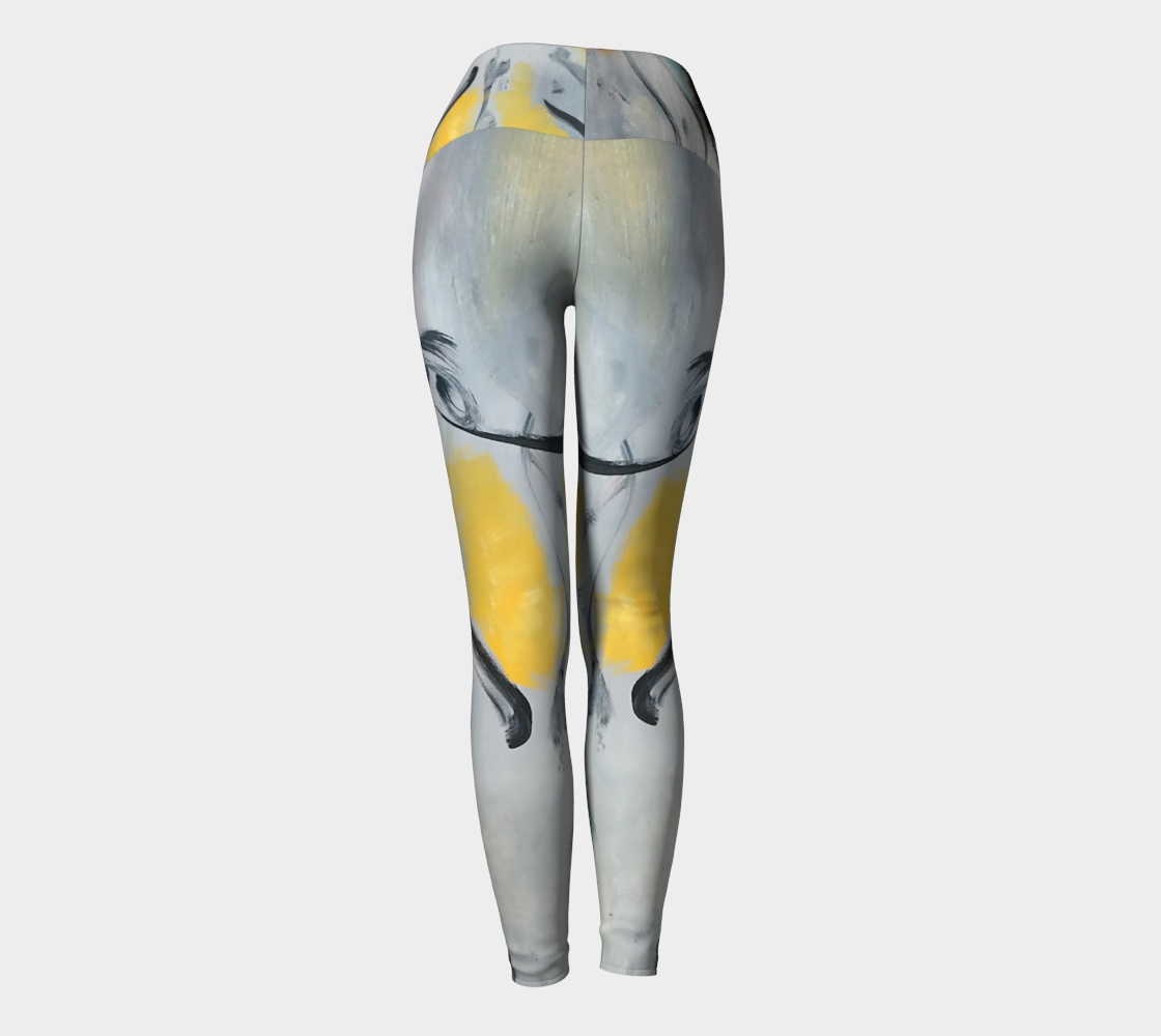 Art Walk Yoga Leggings - Brush Strokes