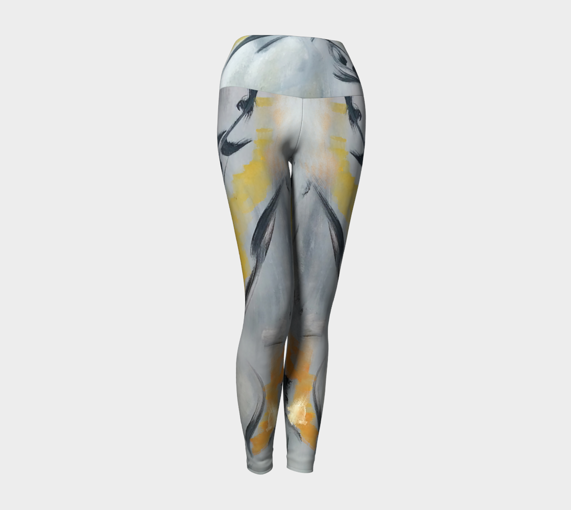 Art Walk Yoga Leggings- Fluer De Lis