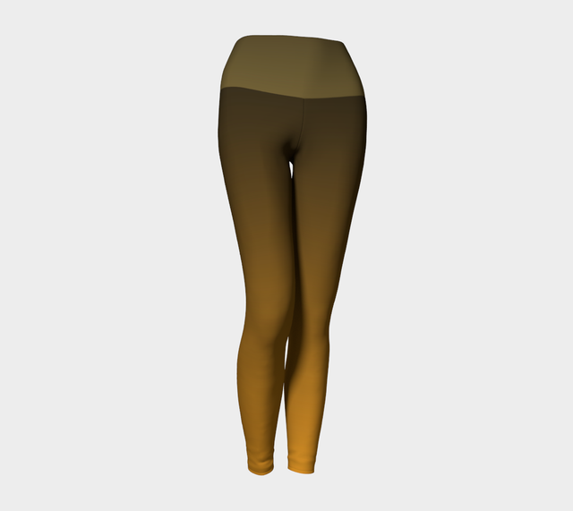 Olive/Ochre Yoga Leggings