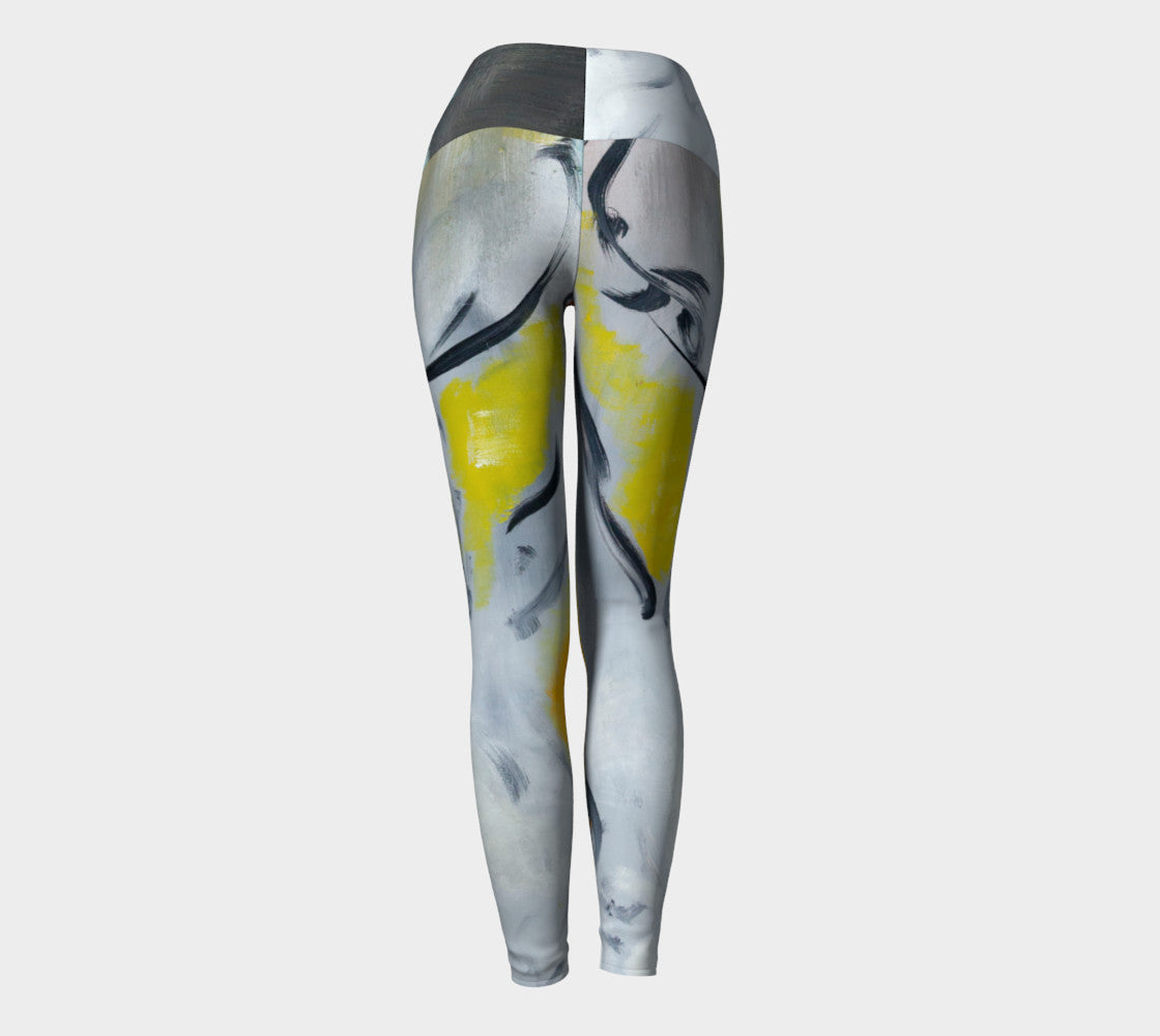 Art Walk Yoga Leggings - Sun Splash