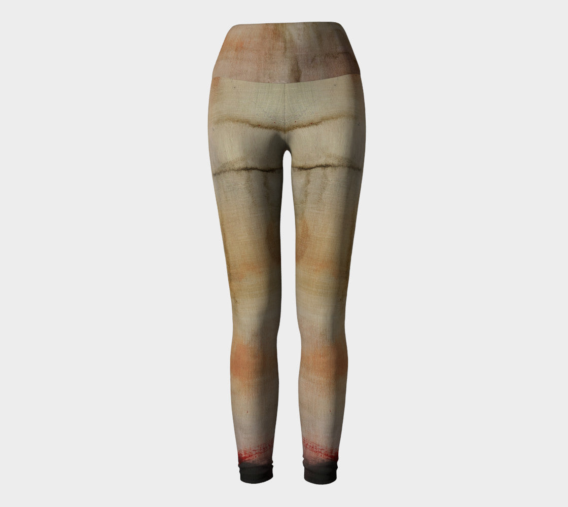Art Walk Yoga Leggings - Earth Tones*