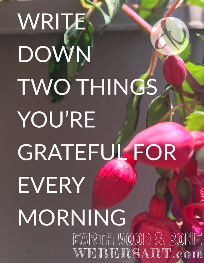 Are you actively practicing gratitude? Here's one way how to start.