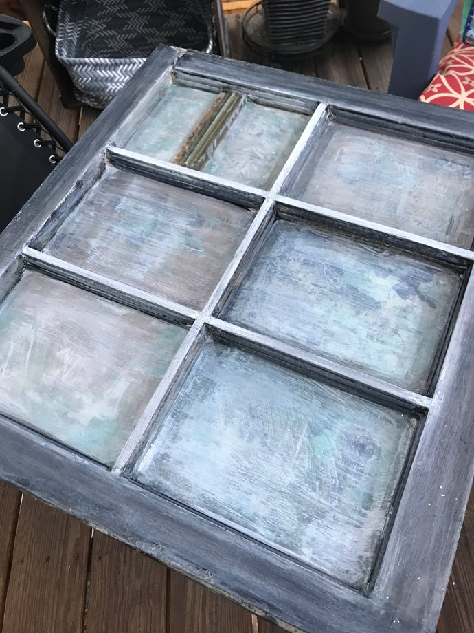 Upcycled Painted Wood Window Project