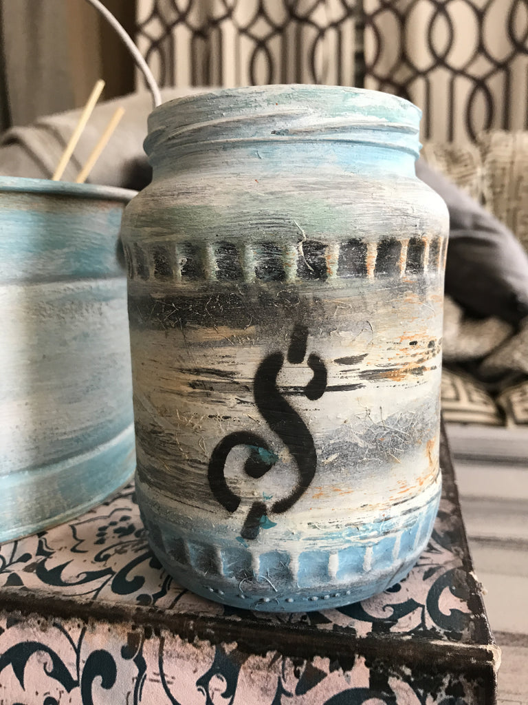 Decorative Glass Jars and Pails