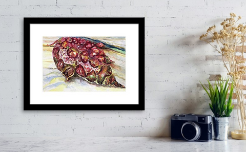 """This Universe framed print by Debbie McCollum.   Bring your print to life with hundreds of different frame and mat combinations. Our framed prints are assembled, packaged, and shipped by our expert framing staff and delivered """"ready to hang"""" with pre-attached hanging wire, mounting hooks, and nails."""