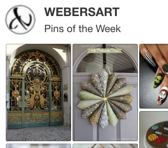 Pinterest Pins of the Week, Weber's Art Studio Blog, Home decor, nail art, design, recipes.