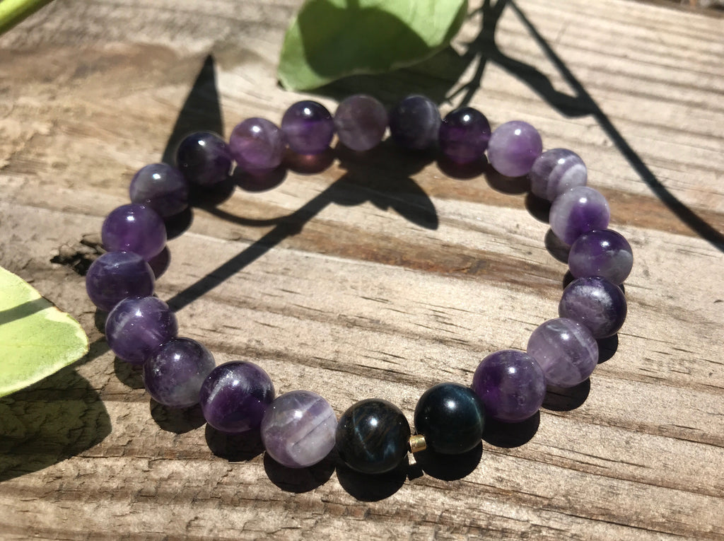 Natural gemstone bracelets, healing, beauty, boho, fashion by Earth Wood & Bone