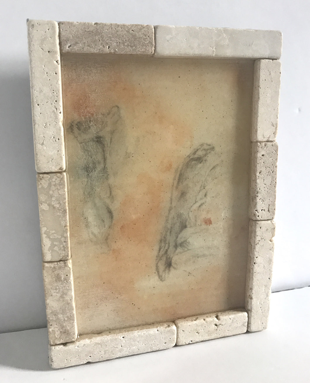 Decorative Wall Hanging-Left Scapula Pencil Drawings Under Resin