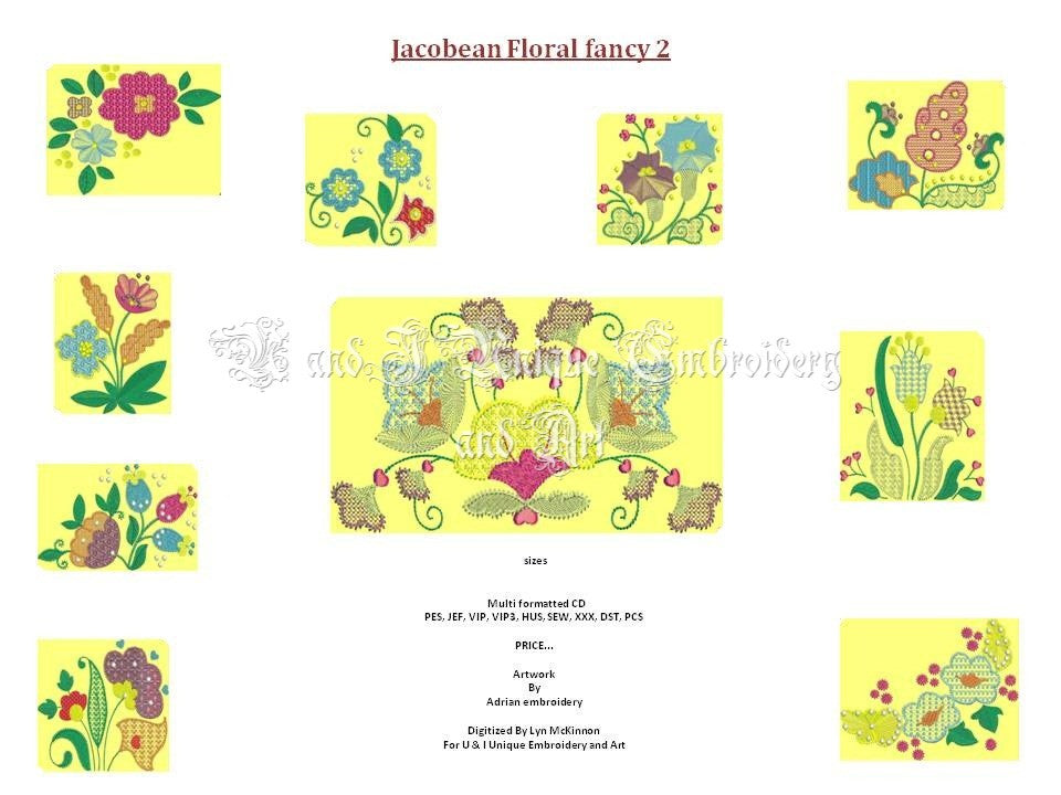 UIU070-Jacobean Floral Fancy two