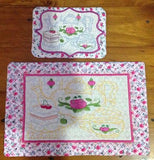 P089_ITH Teatime mug rug and mat No 1 Combo