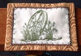 P137_ITH Wagon wheel mug rug