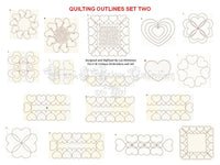 UIU041-Quilting Outlines Set Two
