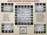 UIU048a-OUR COUNTRY AUSTRALIA....Barbed Wire and Thistle Quilt  5 x 7 inch Hoop