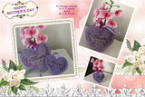 P193-Free Standing Lace Mum /Mom Heart 2 sizes included