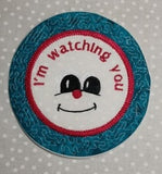 P181-ITH Im watching you mugrug 5 inch