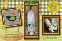 S092_Applique Blanket stitch chicken