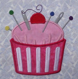 S085-Applique' Pin Cushion 5 x 7 inch Hoop