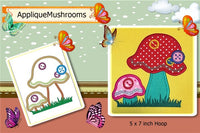 S103-Applique Mushrooms