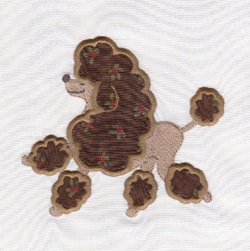 S033-Applique Poodle