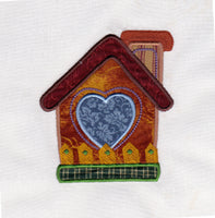 S039-Applique Birdhouse One for the 5 x 7 inch hoop