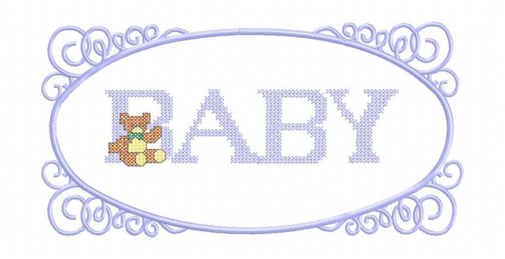 LD015-Blue-FRAMED BABY BLUE FOR THE 300 x 200 mm HOOP