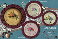 P124_Bird Clock 2 sizer, 8 inch and 5 x 7 inch Hoop