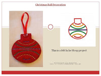 P009_IN THE HOOP Felt Christmas Ball Project