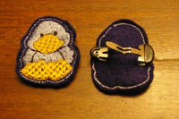 P033-In The Hoop Duck slider for a headband or hair clip