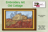 P164-Embroidery Art Old Cottage 300 X 200